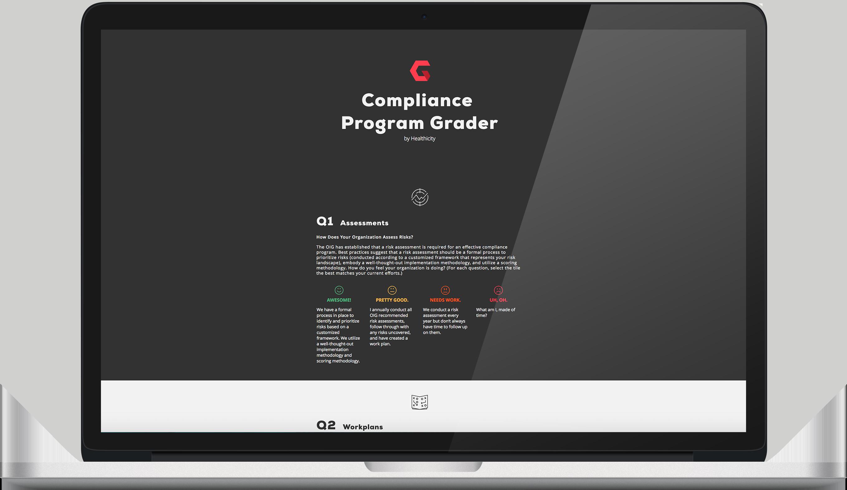 compliance grader screenshot