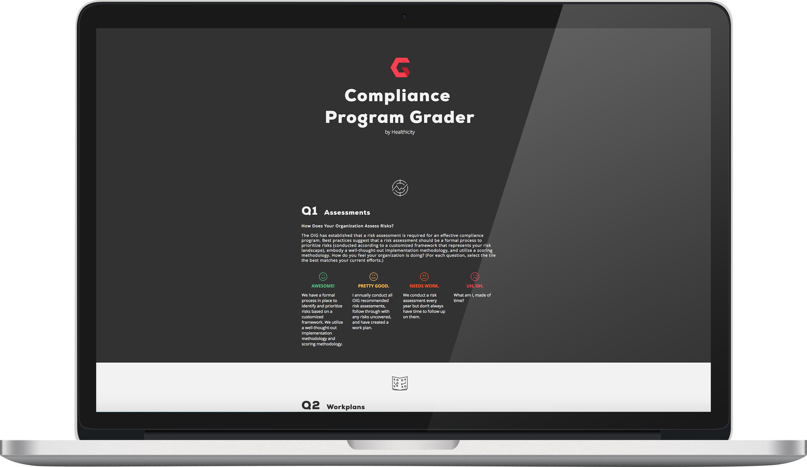 compliance grader screenshot