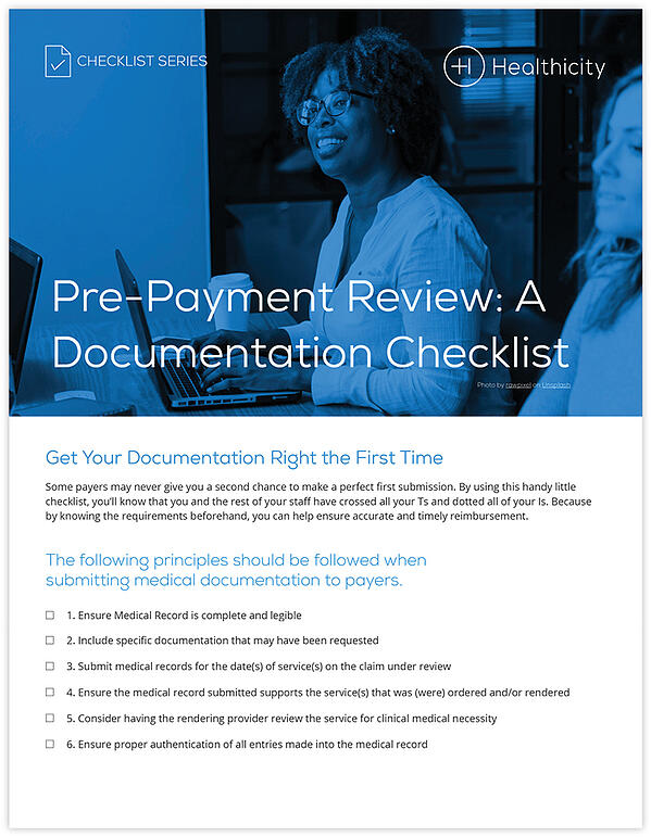 Download the Pre-Payment Review: A Documentation Checklist
