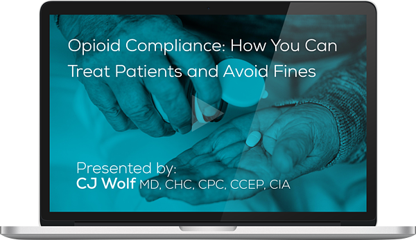 Watch the on-demand webianr on Opioid Compliance Here