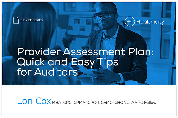 Download the Provider Assessment Plan: Quick and Easy Tips for Auditors eBrief