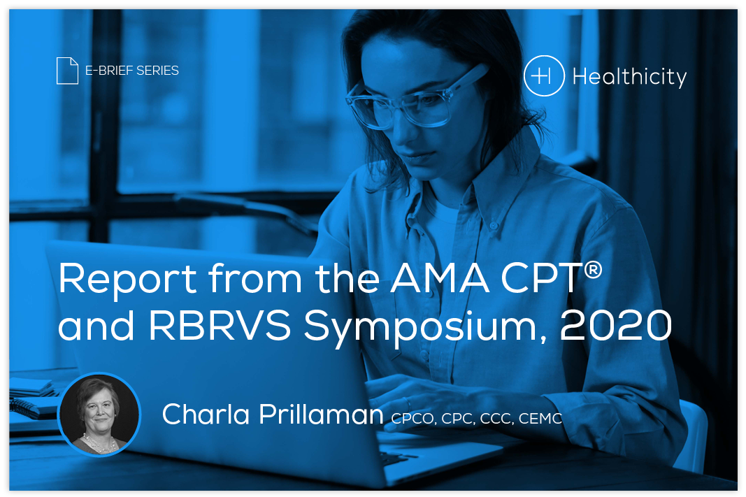 Download the eBrief - Report from the AMA CPT® and RBRVS Symposium, 2020