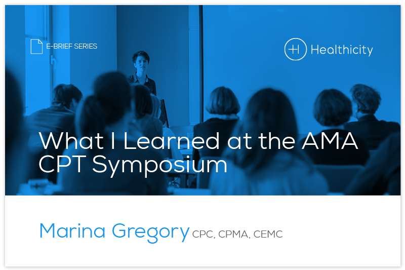 Download the What I Learned at the AMA CPT Symposium eBrief