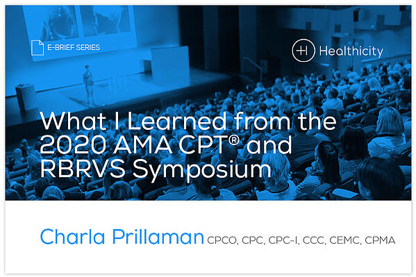 Download the eBrief - What I Learned at the from 2020 AMA CPT®️ and RBRVS Symposium - eBrief