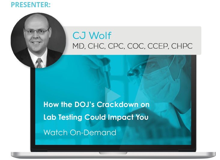 Watch the Webinar - How the DOJ's Crackdown on Lab Testing Could Impact You
