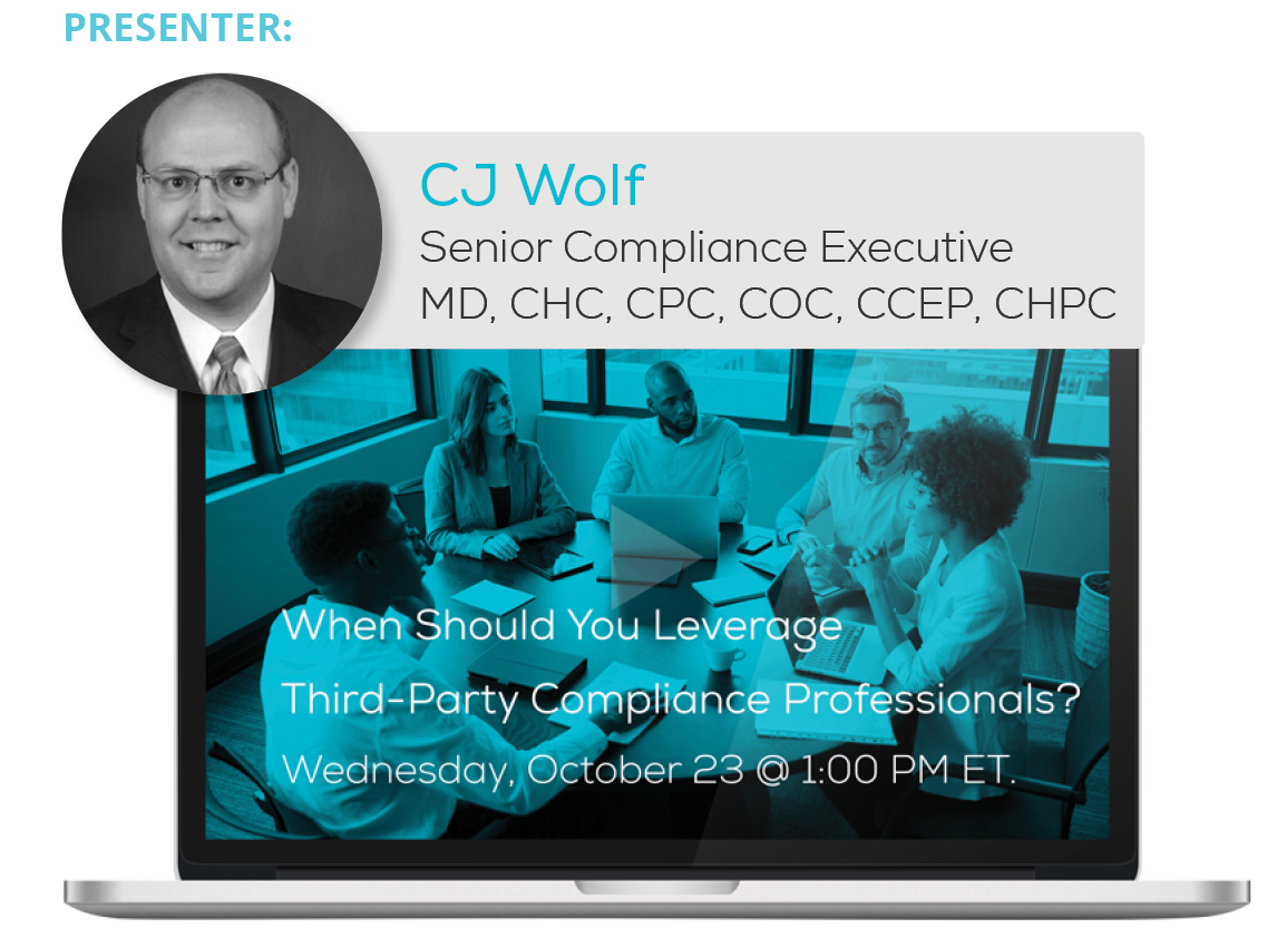 Watch the 'When Should You Leverage Third-Party Compliance Professionals' Webinar