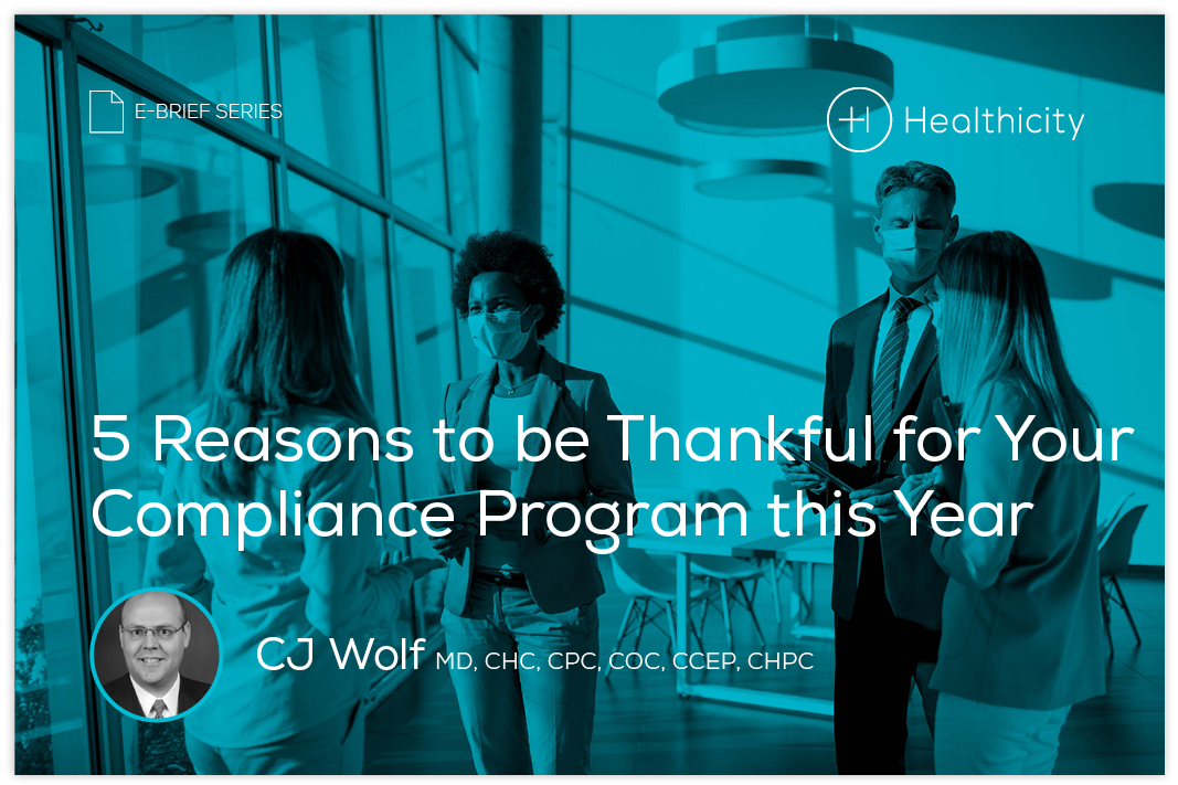 Download the eBrief - 5 Reasons to be Thankful for Your Compliance Program this Year