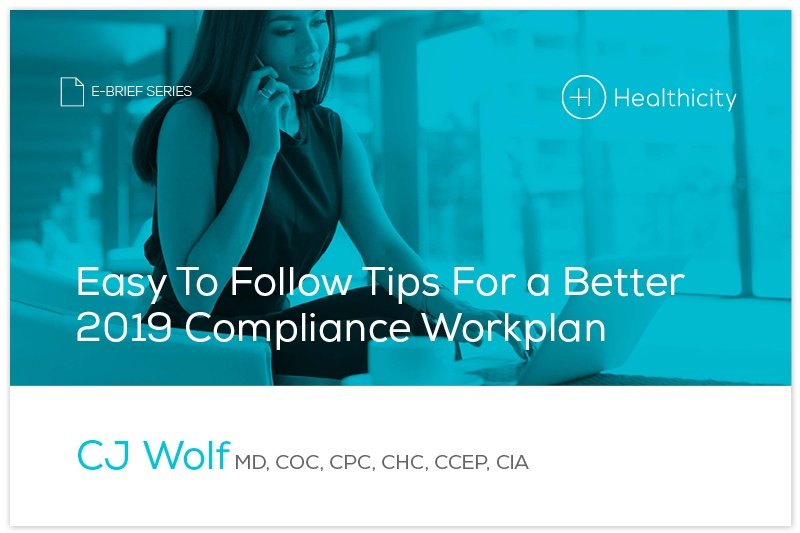 Download the 'Easy To Follow Tips For a Better 2019 Compliance Workplan