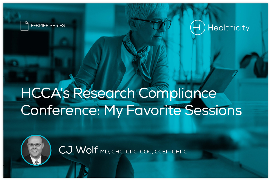 Download the eBrief - HCCA's Research Compliance Conference: My Favorite Sessions